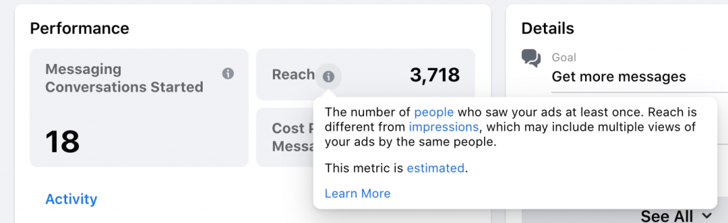 Facebook Reach & Performance