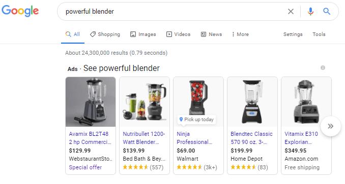 Google Product Listing Ads (PLA)
