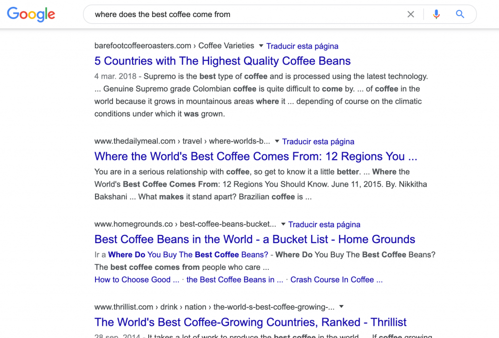 Search keyword - Where DOes The Best Coffee Come From