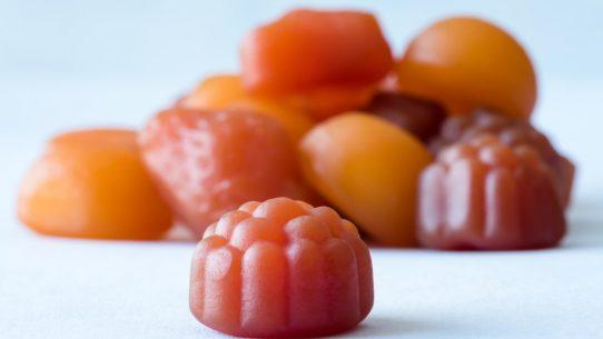 Fruity gummy vitamins